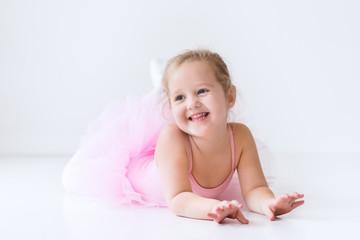 Little ballerina in pink tutu