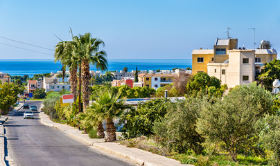 Road to the sea in Paphos - Cyprus