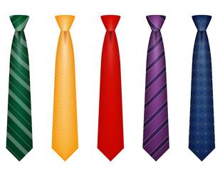 set icons colors tie for men a suit vector illustration