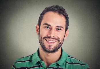 Headshot smiling modern man, creative professional