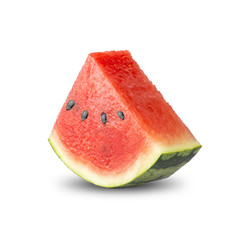 Fresh Watermelon On White Backround