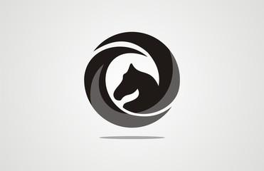 Abstract horse circle design