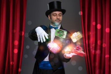 Wall Mural - Magician have magic in his hands