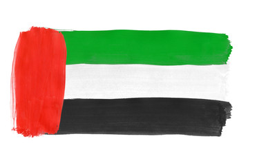 UAE flag painted with gouache