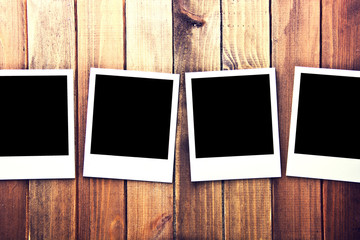 Instant blank photo frames.