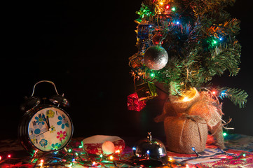 Lifestyle christmas tree and objects