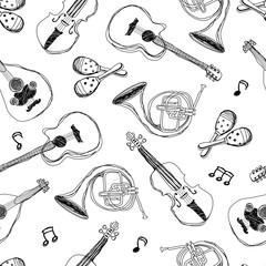 music instruments, Seamless Pattern