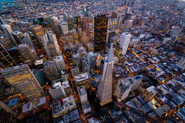 Fototapete - Aerial view of San Francisco