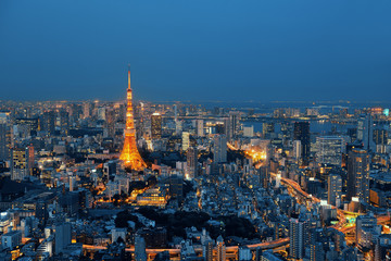 Fototapete - Tokyo Skyline