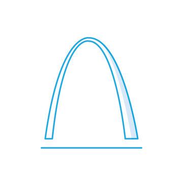 St Louis Arch icon, Famous world landmark, missouri, vector flat style design illustration