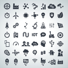 icon set industry 4.0 & internet of things, 2015_12 - 001