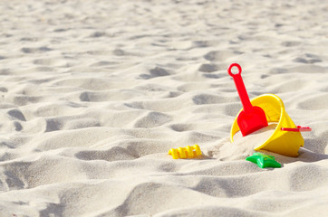Toys on the sand