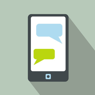Messages on a phone icon