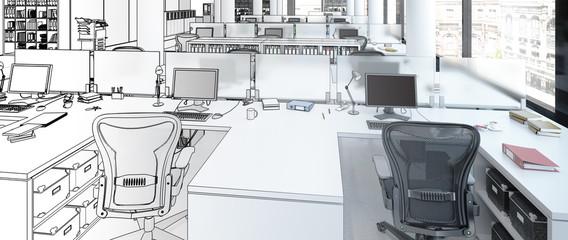 Einrichtung im Büro (Panorama)