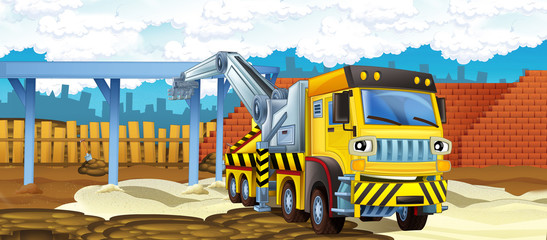 Cartoon truck - illustration for the children
