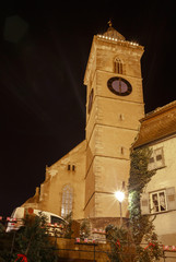 Stadtkirche Nürtingen während des Weihnachtsmarktes