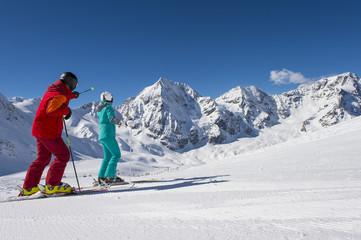 panorama view on ski run