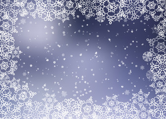 Christmas snowflakes background. Vector illustration.