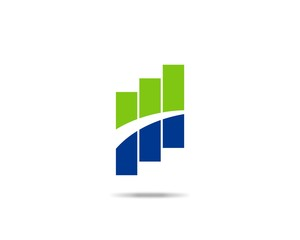 Stock Chart Finance Logo
