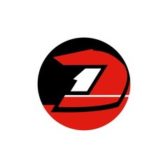 Vector of motorcycle racer icon. Business team sport icon. Business icon for the company. Abstract symbol of racer. Race driver.