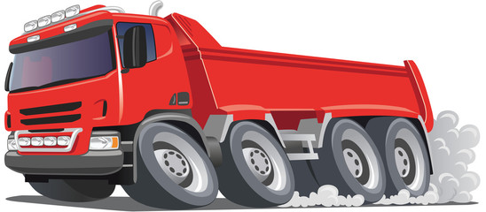 Red Tipper Truck with space for logo