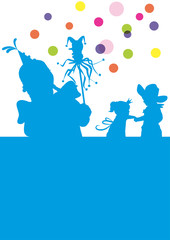 Kinder Karneval Party Tanzen