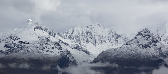 Cordillera Blanca mountain, Huaraz in Peru