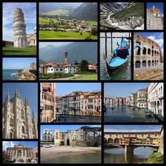 Italy - travel photos collage