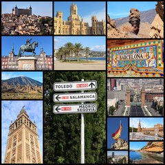 Spain - travel photos collage