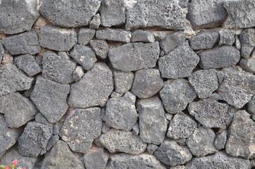Typische Steinmauer auf Lanzarote
