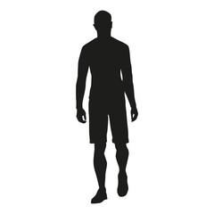 Man walking vector silhouette