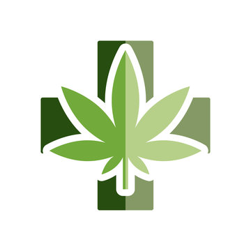medical marijuana flat icon