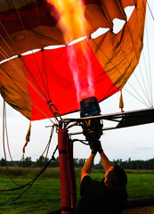 Vertical vivid baloon startup background backdrop