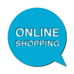 Speech Bubble online shopping with shadow