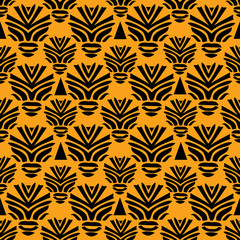 Tribal seamless pattern. African style vector illustration