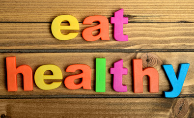 Colorful Eat Healthy word
