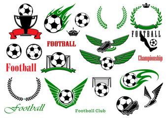 Football or soccer sport game design elements