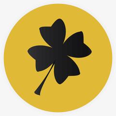 Leaf clover sign icon. Saint patrick symbol.