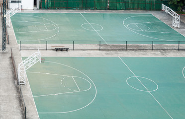 Double basketball field