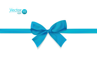 Ribbon with blue bow.