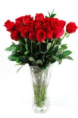 Fototapete - red roses in vase