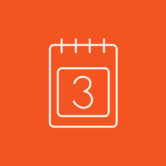 Calendar line icon.