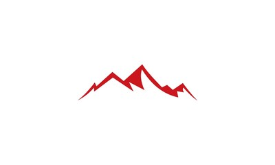abstract mountain company logo