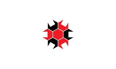 abstract polygon company logo