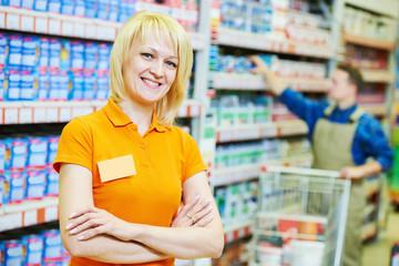 Seller assistant in shop