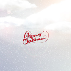 Christmas background, with realistic sky, Vector eps 10