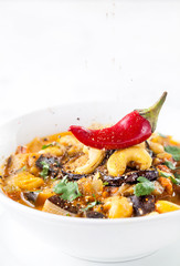 Eggplant curry with cashew nuts