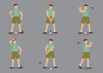 Golf Sports Vector Icon Set