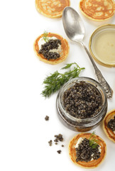 Natural black caviar