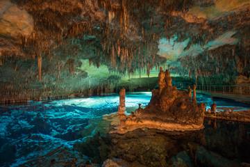 Dragon caves on Majorca, wide angle Wall mural